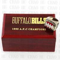 Buffalo Bills Championship Ring 1993 Replica AFC American Football Rings Fashion Jewelry Men Fan Best Gift