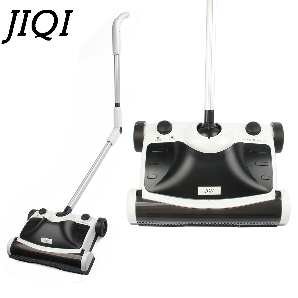 JIQI Hand Push Sweeper Mop Foldable Cordless Rechargeable Mopping Dust Collector Aspirator Automatic Drag Broom Vacuum Cleaner