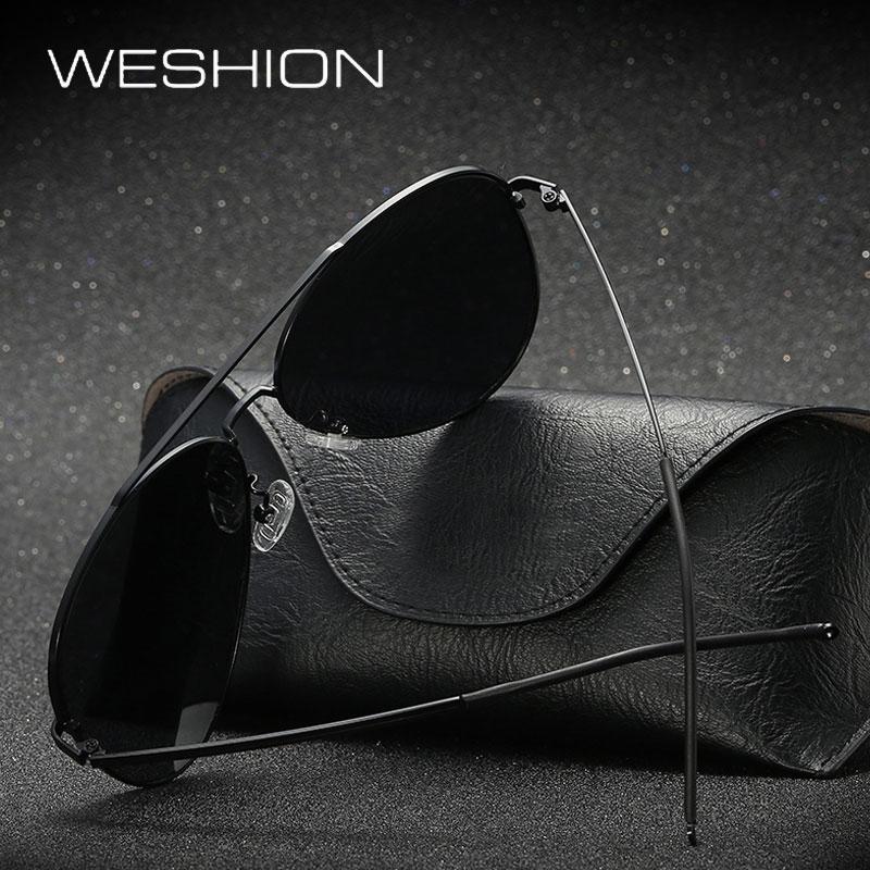 WESHION Aviator Sunglasses Men Women Polarized Coating Mirror Sun Glasses Driver Fishing Outerdoor Oculos De Sol Masculino