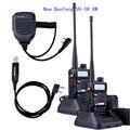 2 шт. Baofeng УФ-5R 8 Вт Высокой Мощности VHF/UHF 136-174/400-520 МГц Dual Band FM истинной двустороннюю Любительское Радио Walkie Talkie + МИКРОФОН + кабель