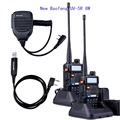 2pcs Baofeng UV-5R 8W High Power VHF/UHF 136-174/400-520MHz Dual Band FM True Two-way Ham Radio Walkie Talkie +MIC+cable