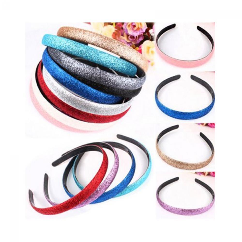 Women's Hair Accessories 1 Pcs/pack Fashion Lady Girls Glitter Headbands Sparkling Hoop Hair Leather Plastic Hair Band Hair Band Accessories