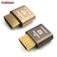 FUERAN HDMI Dummy Plug Headless Ghost Display Emulator Fit Headless 1920x1080 New Generation 60Hz