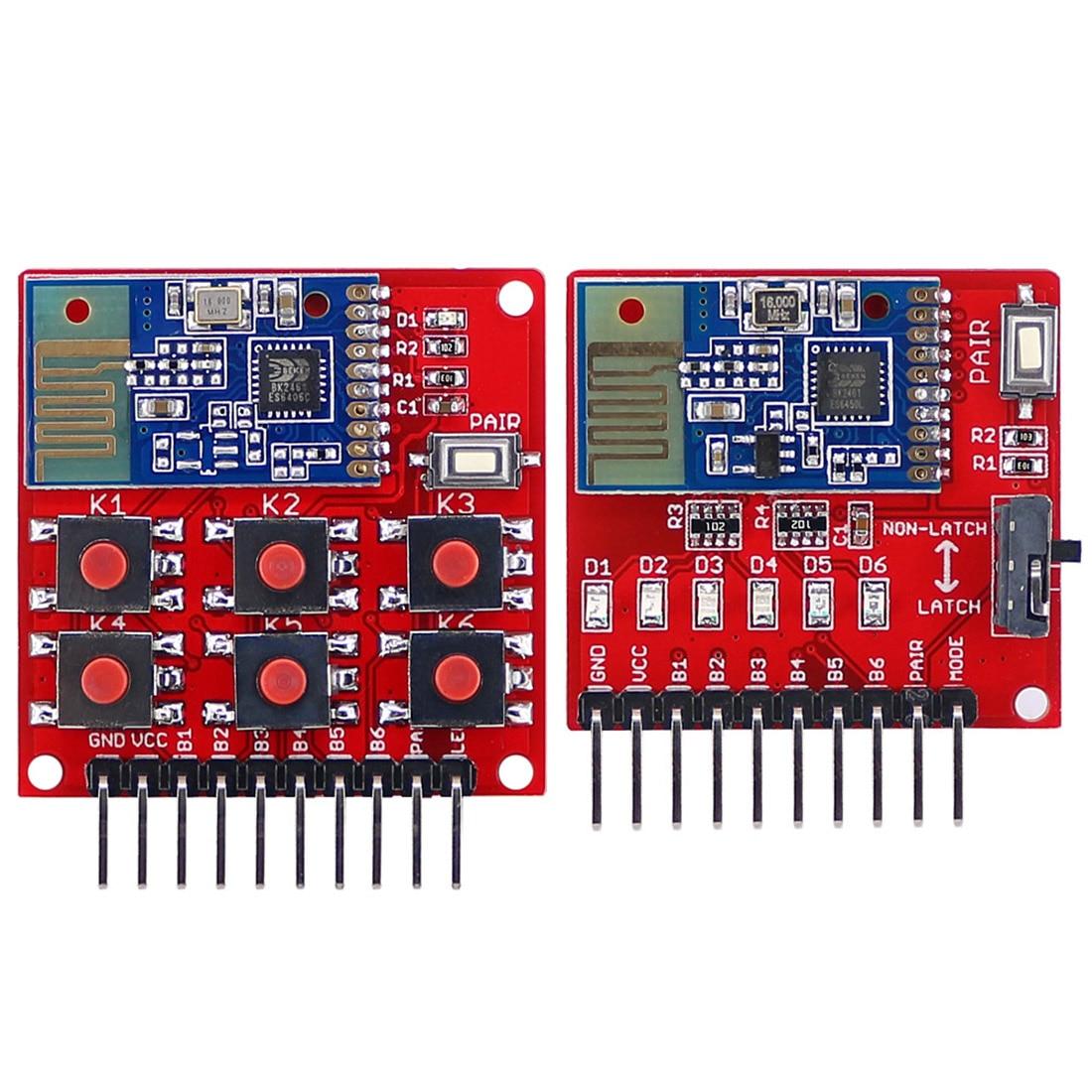 """Рекомендуем 1 шт. 2,4 г Беспроводной переключатель дистанционного комплект 6-канальный передатчик приемник модуль без программирования для """"сделай сам"""" - Цвет: red"""