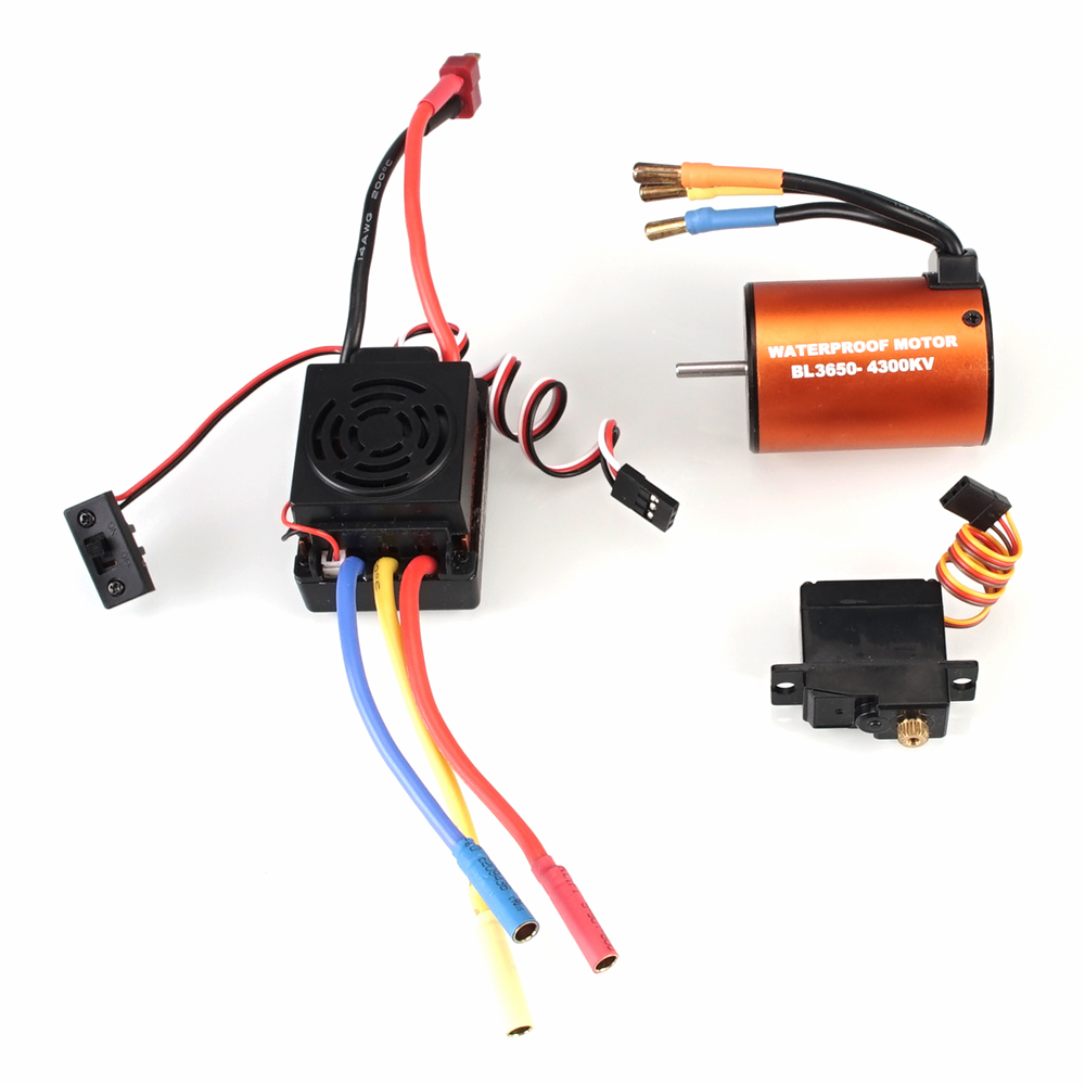 Image 3 - WLtoys 12428 Upgrade parts 3300KV brushless motor 60A ESC servo power set components Third channel switch Metal differential-in Parts & Accessories from Toys & Hobbies