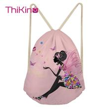 Thikin Lovely Girls Casual Sack Drawstring Bag for Women Men Travel Backpack Toddler Softback Lady Beach Mochila DrawString Bag unisex backpacks men women drawstring backpack bags cool shoes burger printed casual softback shopping travel drawstring bag