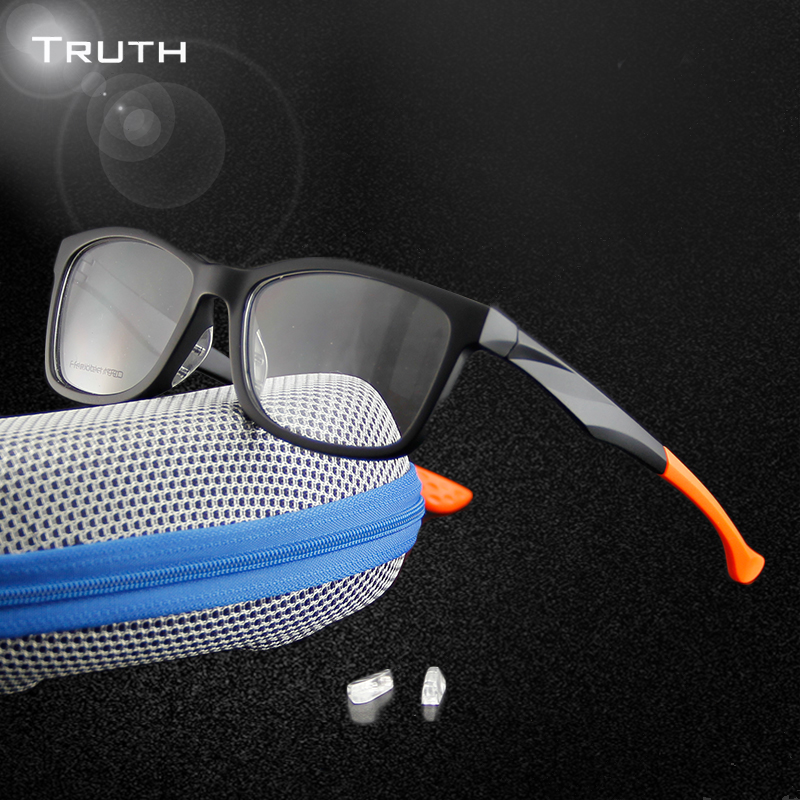 2930c717920b TRUTH Sports Glasses Men Transparent TR90 Replaceable Nose Pads Eyeglasses  Male Sports Glasses Cycling Fishing Glasses Oculos