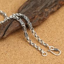 hot deal buy 4mm thick corn round link chain silver charm necklace sterling 925 silver jewelry