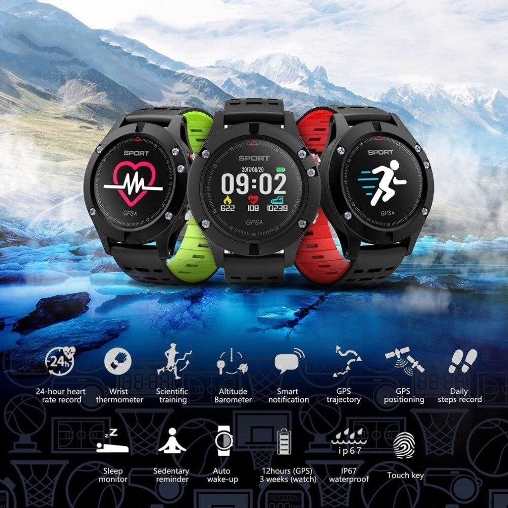 F5 GPS outil de plein air sport homme dédié montre intelligente Support étape positionnement Fitness Tracker Altitude pression montre-bracelet
