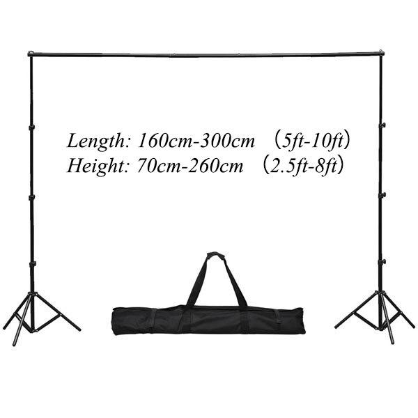 Allenjoy 300x260 cm/10 * 8ft Toile stent Fond Support Système 2 stands de lumière + 1 croix bar + grand sac
