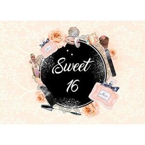 Image 2 - Funnytree aanpassen vinyl fotografie achtergrond pastel parfum bloem cosmetische sweet 16 tiener fotostudio photobooth photocall