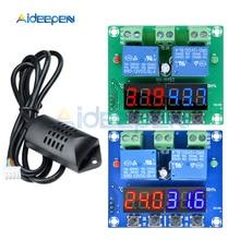 XH-M452 двойной Выход светодиодный цифровой дисплей термостат Температура влажность контрольный термометр контроллер гигрометра модуль DC 12 V