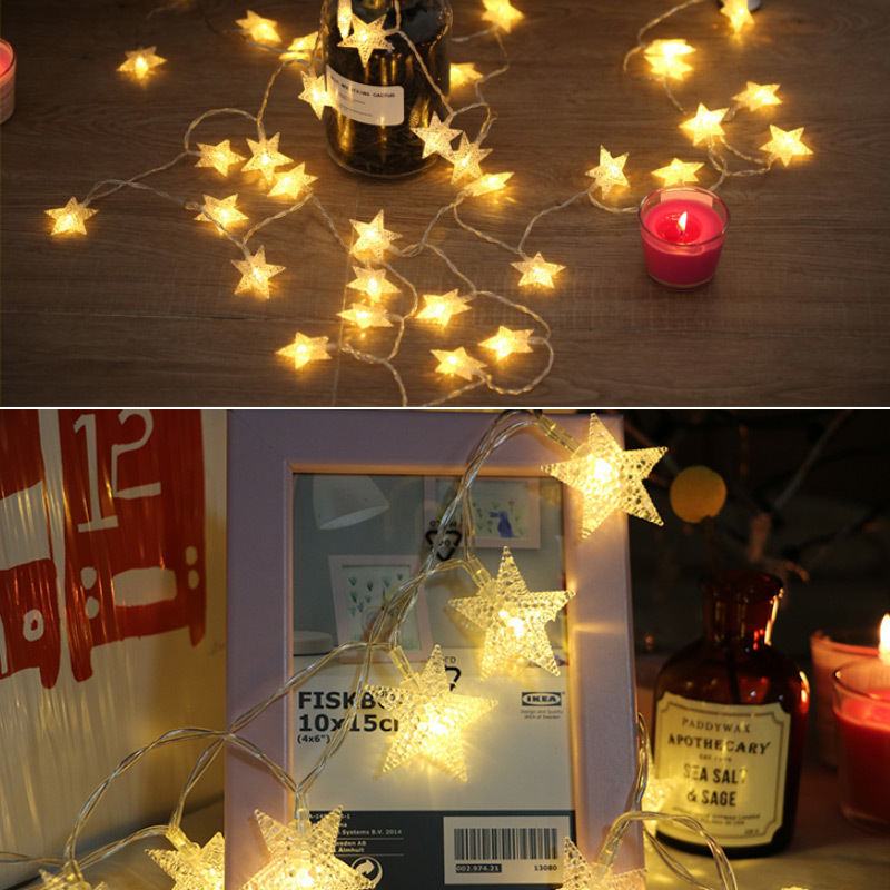 aliexpresscom buy 1020led star light string twinkle garlands battery powered christmas led lamp holiday party wedding decorative fairy lights from