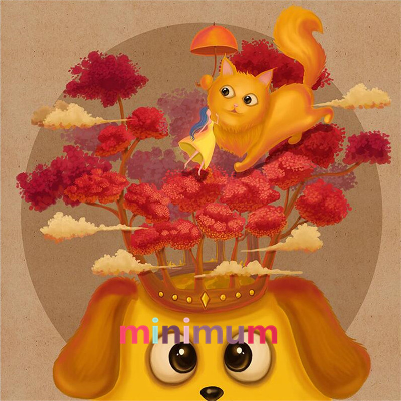 On Sale Home Decoration 5D Diamond Painting Cute Cat DIY Cross Stitch