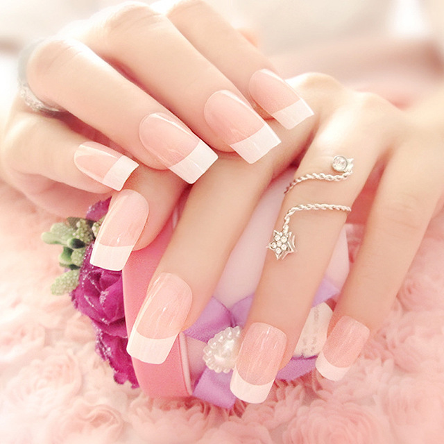 Hot Sale Artificial False Nails French Style Fake Nails for Nail Art ...