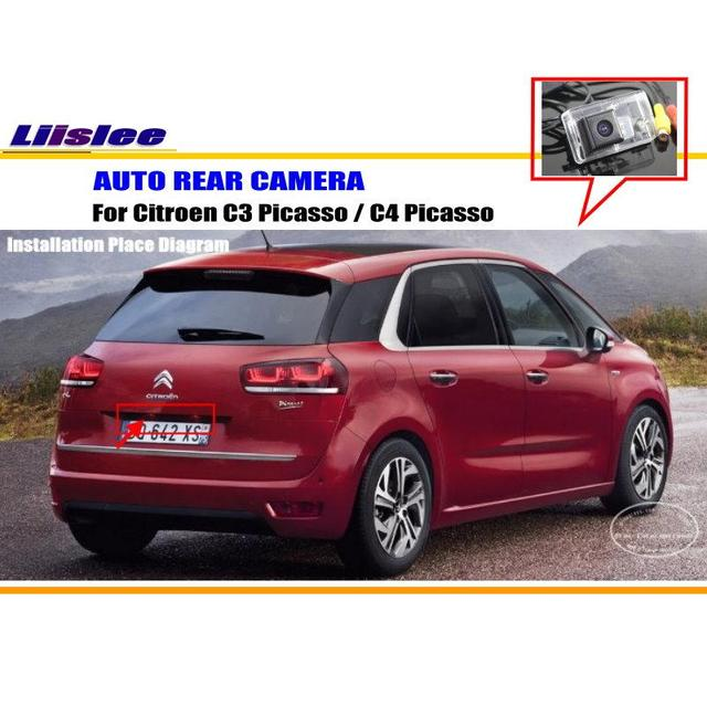 liislee vue arri re de voiture cam ra pour citroen c3 picasso c4 picasso cam ra de recul ntst. Black Bedroom Furniture Sets. Home Design Ideas
