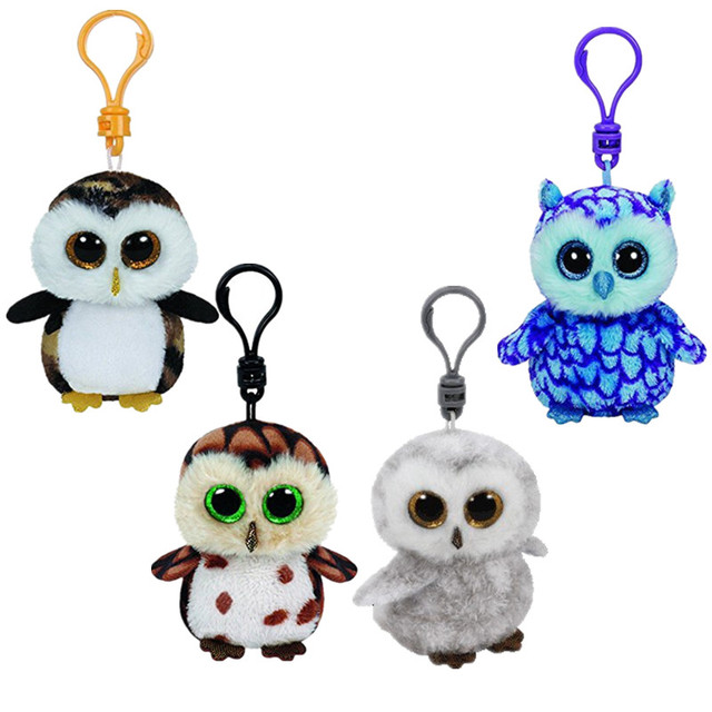 b96bf522cce Ty Beanie Babies Boos Black Owls Clip Keychain Plush toys for children Doll  juguetes brinquedos