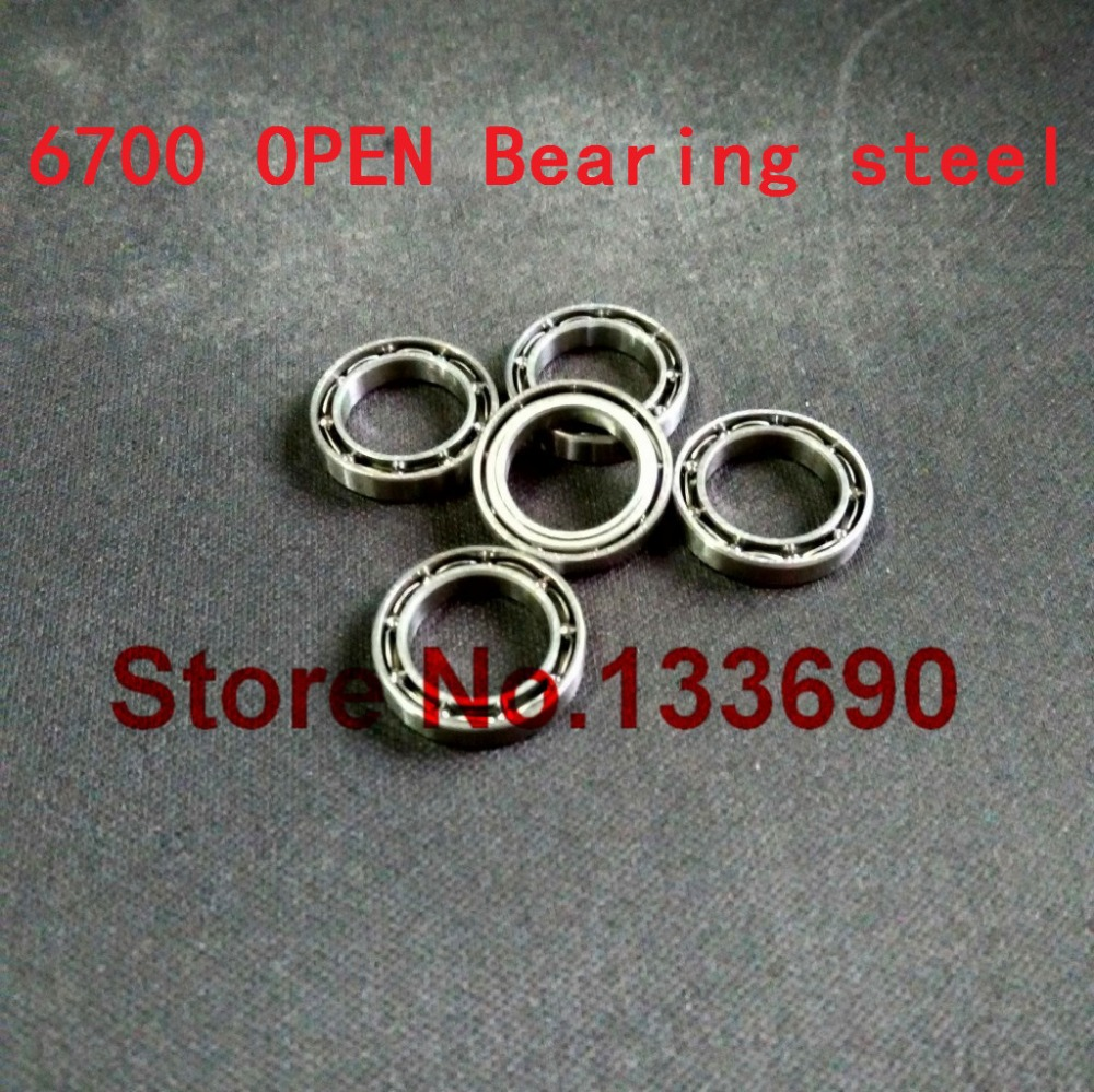 Objective High Quality 10pcs/lot 6700 Open 10*15*3 Mm Open Metric Miniature Deep Groove Ball Bearing 10x15x3 P0 Gcr15 And Digestion Helping Electronic Components & Supplies