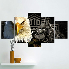 Pop Art Canvas painting  Wall Pictures for Bedroom Decorative Home Decor Eagle Frameless Spray Painting