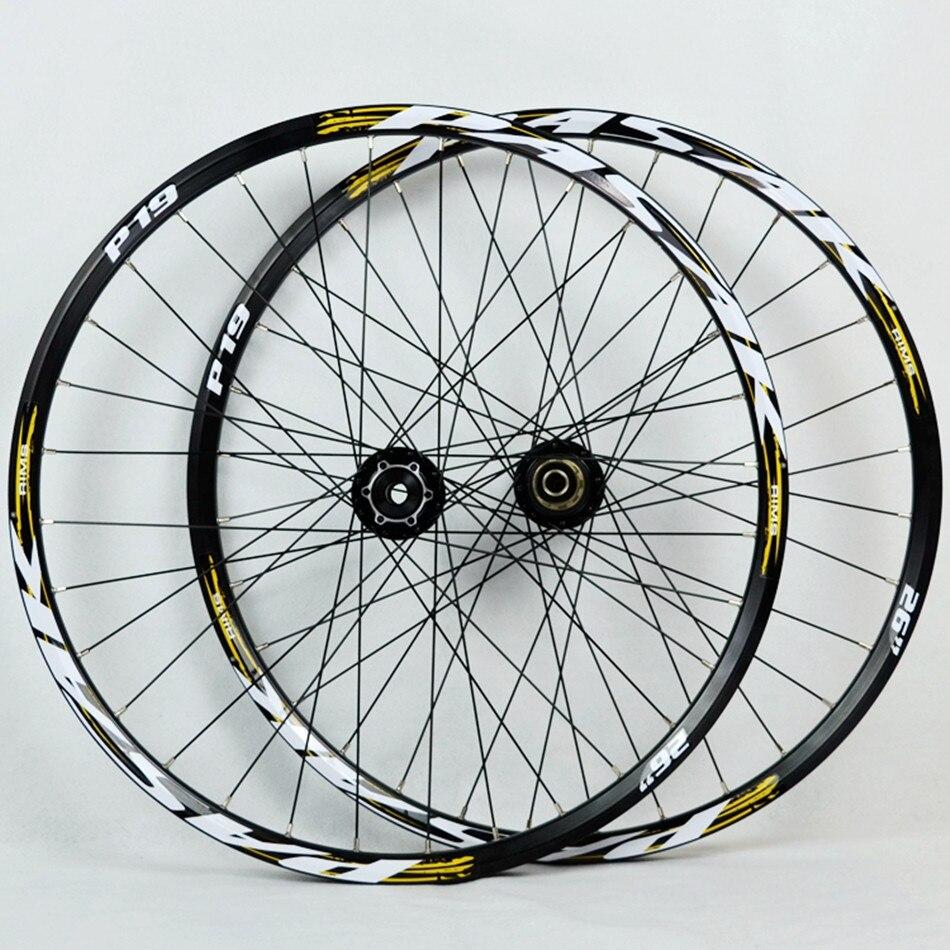 Vtt VTT vélo doux queue descente AM à travers l'axe essieu scellé roulement roues roues 20*110mm 12*142mm jante