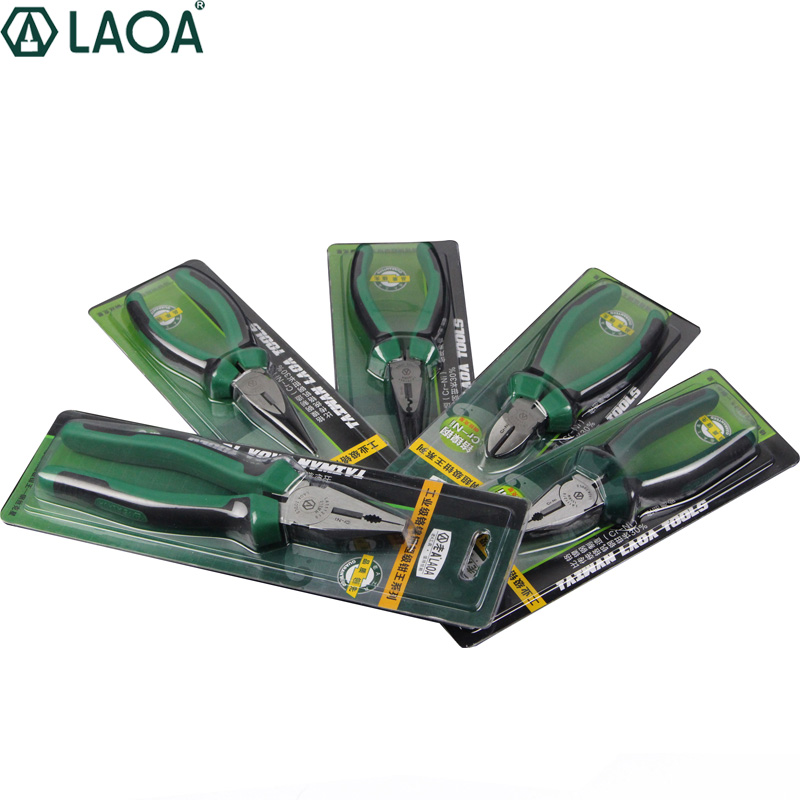 Tools : LAOA 3pcs Cr-Ni Wire Cutter Nippers Long Nose Pliers Multifunction Side Cutter