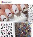 24 Шт. 24 Стиль в 1 Большой Пакет Бабочка Шаблон Штамповки 3D Наклейки Ногтей Прелести Bronzing Ногтей Пропуск!