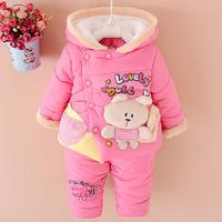2017 baby Girls christmas snowsuit parkas clothing set winter coat children bear hooded thicken infant winter clothes set