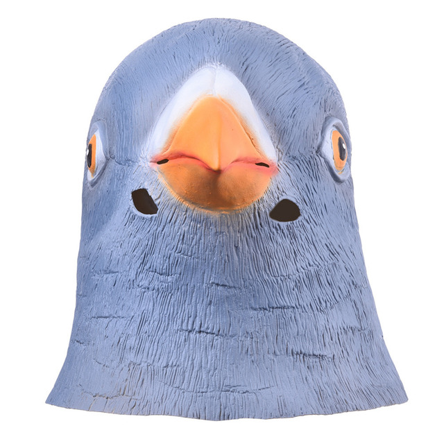 2019 New Lifelike Pigeon Head Full Face Mask Halloween Gifts Eco-friendly Nature Latex Funny Mask For Cosplay Party Dress up