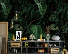 Beibehang Customize large wallpaper for walls 3 d Tropical plant green leaf oil mural backdrop decorative painting
