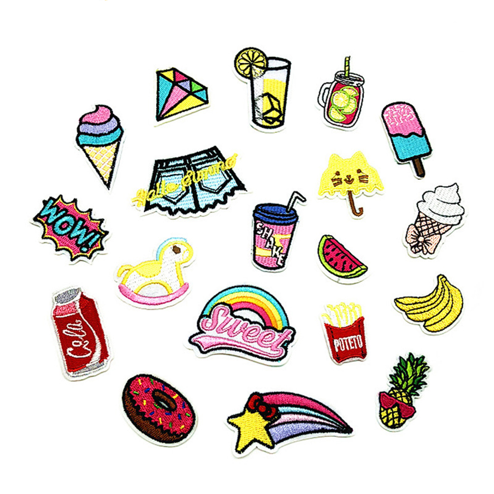 Small embroidered cloth stickers Children