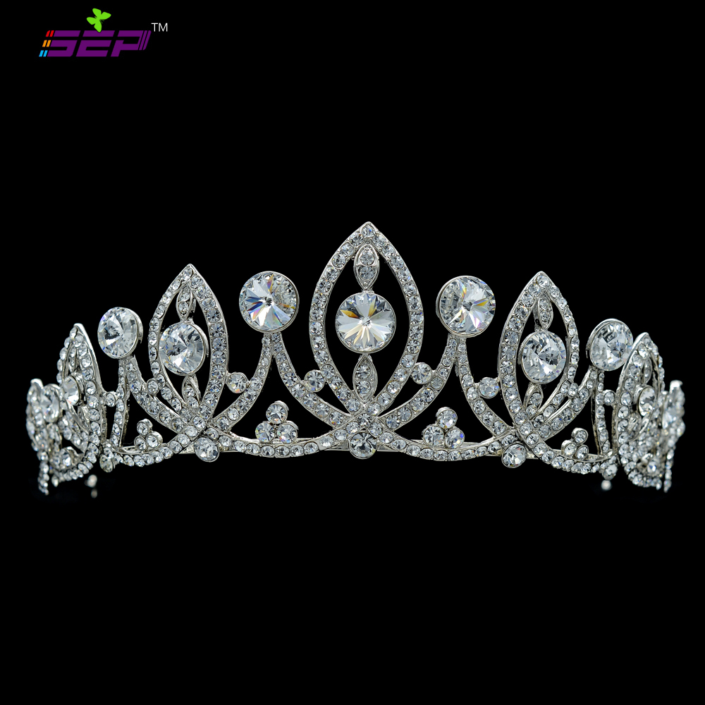 Real Austrian Crystals Tiara Crown Wedding Jewelry Bridal Jewelry Hair Accessories Wedding Bride Flower Headband SHA8631