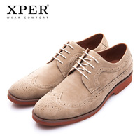 XPER Brand Spring Autumn Work Men Dress Shoes Fashion Brogue Shoes Business Formal Wedding British Style Casual Shoes XAF86762