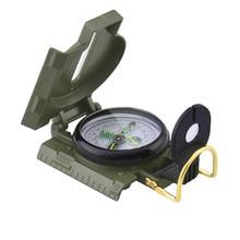 Военный призматический Прицельный компас многофункциональный металлический складной компасы с линейка с лупой на открытом воздухе походный направляющий