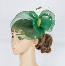 Free shipping high quality fascinator hats nice bridal hair accessories party hats wedding hats FS66