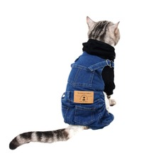 Small Cats Clothes Jeans Costume Kitten outfit For Pet Dogs Cat Clothing katten kleding chien vetement