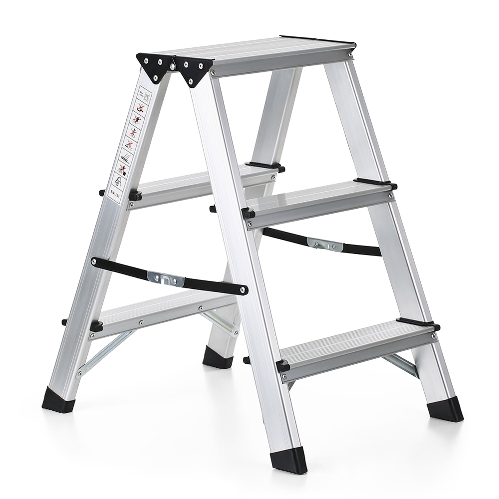 Tremendous Us 44 19 45 Off Folding 2 Step Ladder 330 Pound Capacity Portable Aluminum Stepladder Non Slip Folding Ladder Extension Home Outdoor Ladder In Inzonedesignstudio Interior Chair Design Inzonedesignstudiocom
