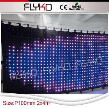 Freies verschiffen flexible geführte streifenvorhang xxxvideo vorhang led anzeige-in Bühnen-Lichteffekt aus Licht & Beleuchtung bei