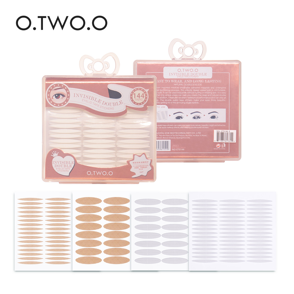 O.TWO.O Double Eyelid Tape 144 Pairs S/L Long Lasting Waterproof Eye Lift Invisible Natural Eye Tape Makeup Tools With Box