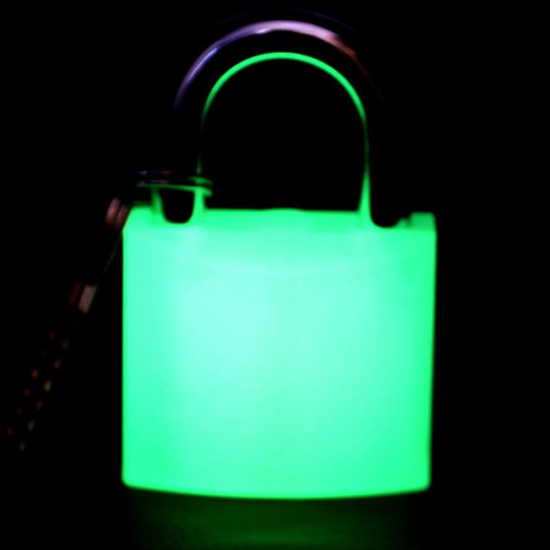 50MM Luminous padlock power lock boxes Fluorescence padlock Industrial Safety Lock Management practice lock