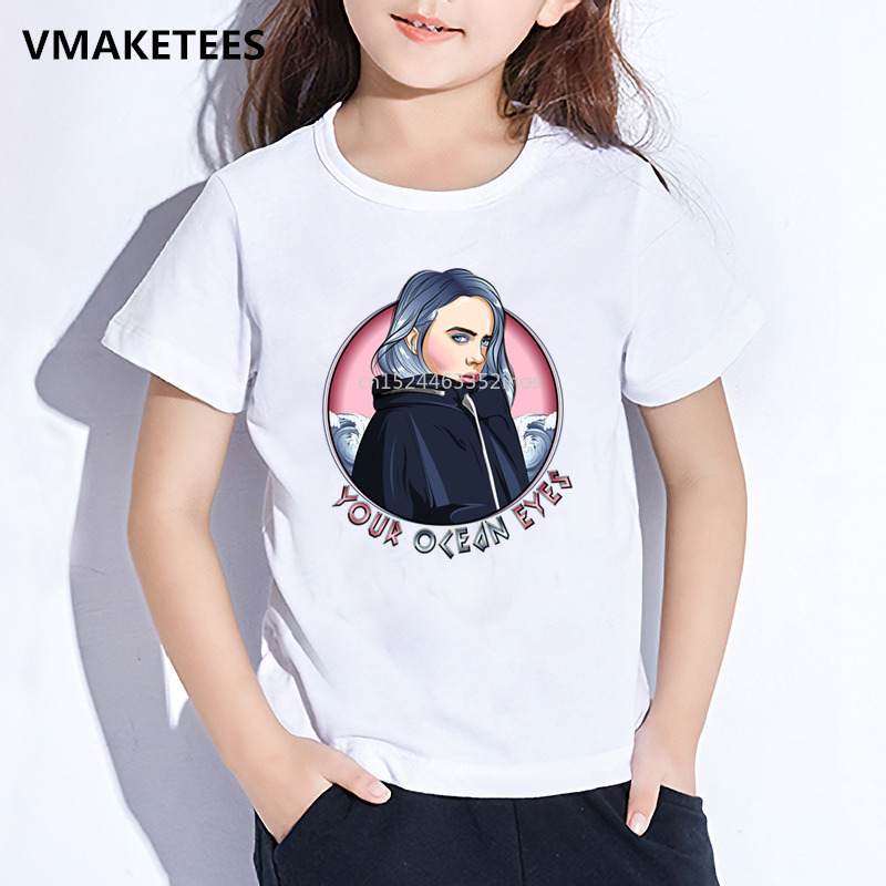 Boys T-Shirt Short-Sleeve Billie Eilish Printed Girls Baby Casual Kids Summer Children title=