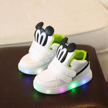 Cute Lovely Princess Boys Girls Boots Cartoon Children Shoes Casual Fashion LED