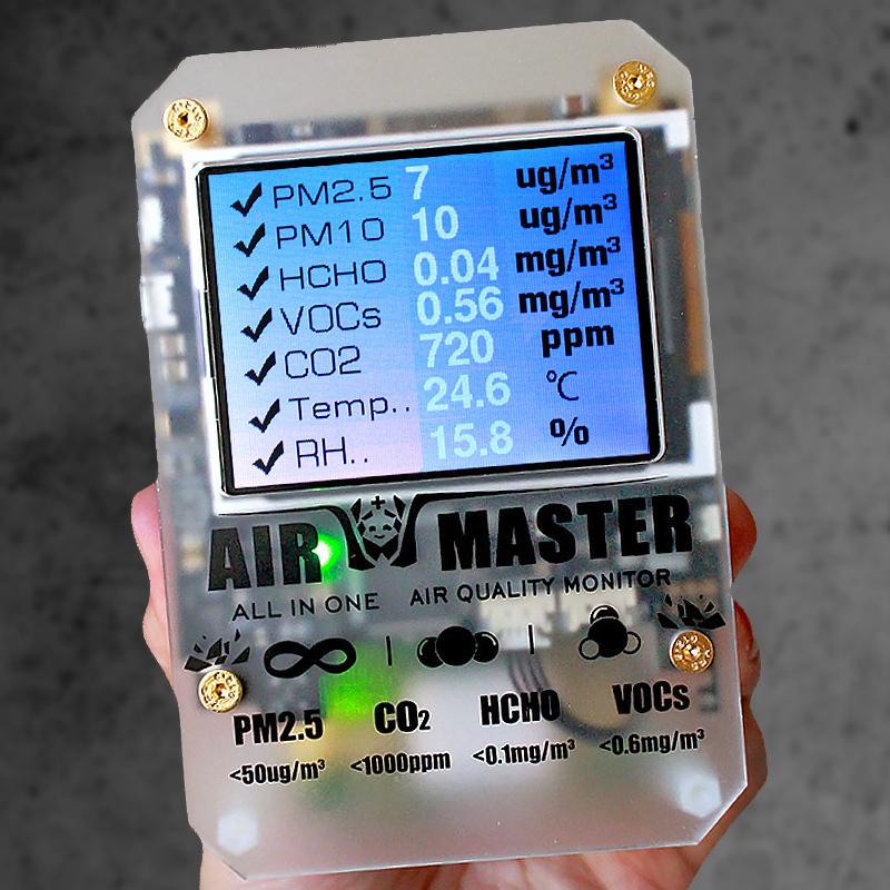AM6 AM7 Plus AirMaster2 Home Use Air Condition Detector DART Formaldehyde Detector With 2-FE5 Stand Probe Open Source Code