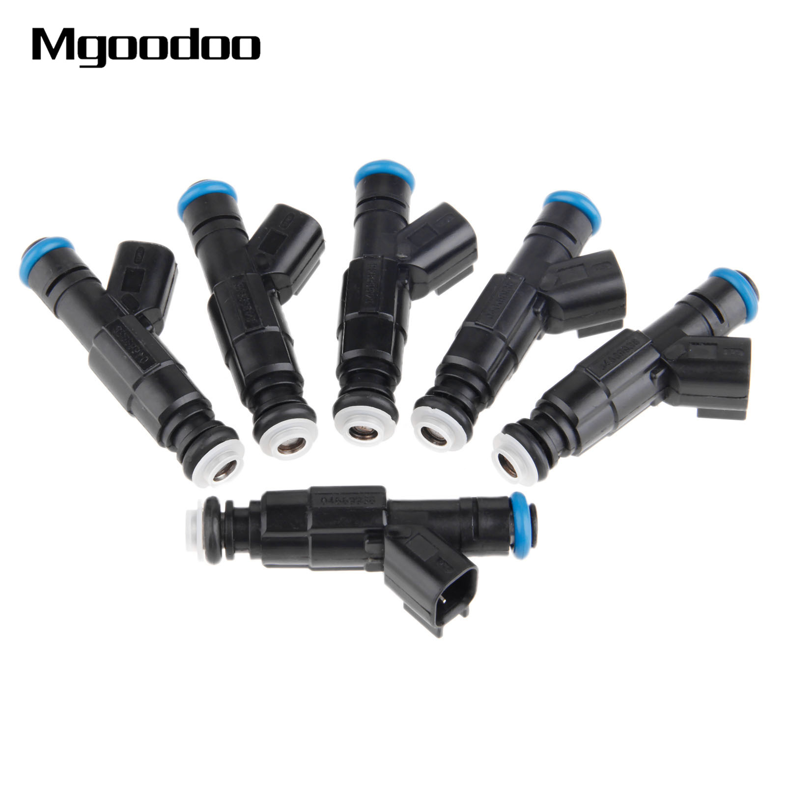 US $44 98 20% OFF|6Pcs 4 Hole EV6 Upgrade Fuel Injectors Kit 0280155784 For  Jeep Cherokee 99 01 4 0L / Grand Cherokee 99 04 / Wrangler 99 04 4 0L-in