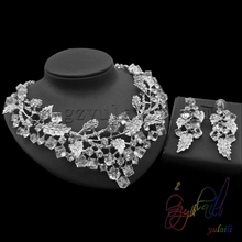 Free shipping Wedding party jewelry Rhinestones fashion Necklace & earrings set