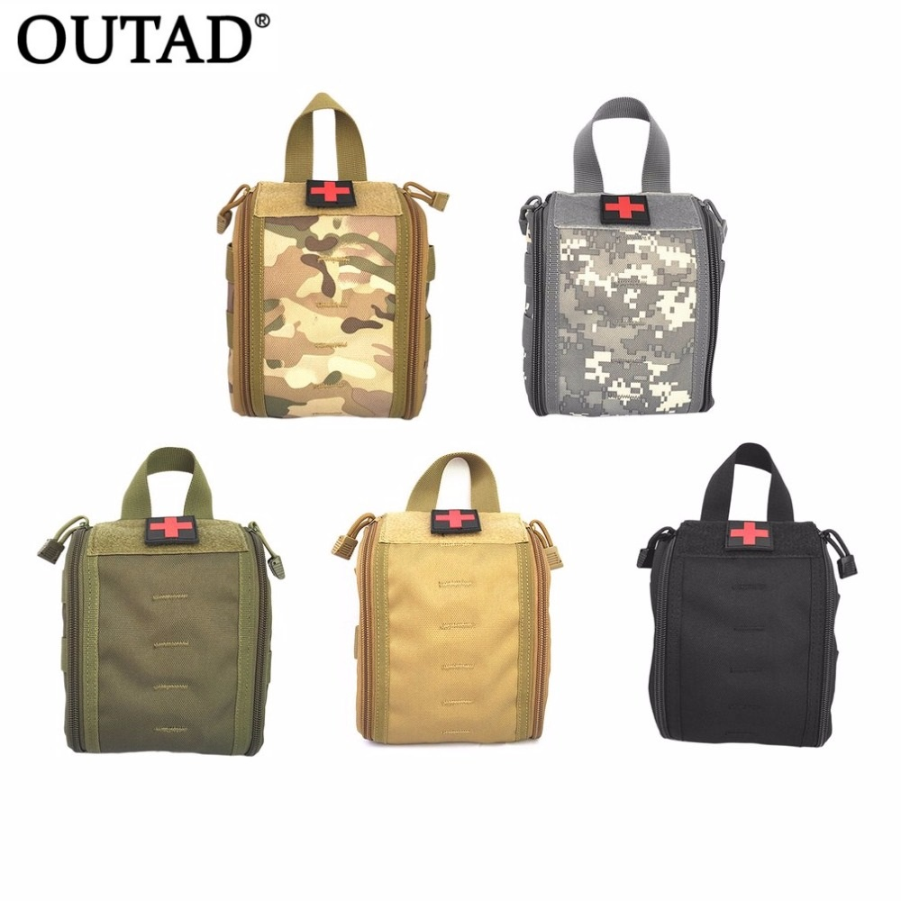 Durable Outdoor Sport Medical Bag Tactical First Aid Kit Multifunctional Pack Emergency Survival Empty Bag For Travel Camping все цены