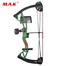 17-26 inches 4 Color 10-20 lbs Children Compound Bow Draw Length for Children Archery Shooting Hunting Gift topoint archery compound bow package t1 cnc milling bow riser 19 30in draw length 19 70lbs draw weight 320fps ibo
