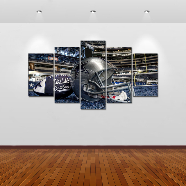 HD Print 5 Pcs Canvas Art Alabama Football Sport Painting On Canvas Modern Home  Decor Wall