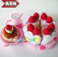 Strawberry Cake Felt kit Non woven cloth Craft DIY Sewing set Felt Handwork Material DIY needlework supplies