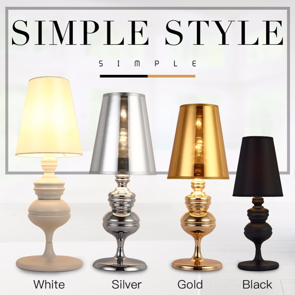 Modern Table Lamp For Bedroom Living Room Desk Lamp Office Reading Light Shade Push Button Switch The Spanish Defender Lighting eiffel tower modern reading led table light desk lamp stand living room