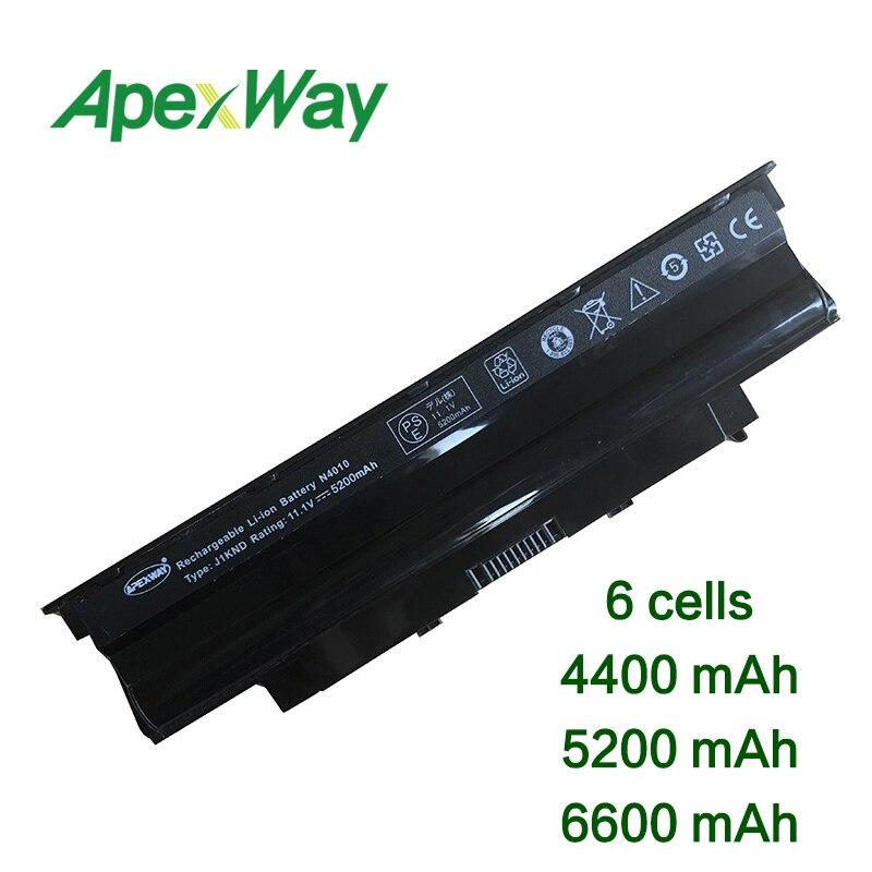 11.1 V 6 Cellen Laptop Batterij Voor Dell Inspiron N5110 M501r M511r N3010 N3110 N4010 N4010-148 N4010d-158 N4050 N4110 N5010 1450